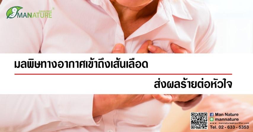 มลพิษทางอากาศเข้าถึงเส้นเลือด ส่งผลร้ายต่อหัวใจได้